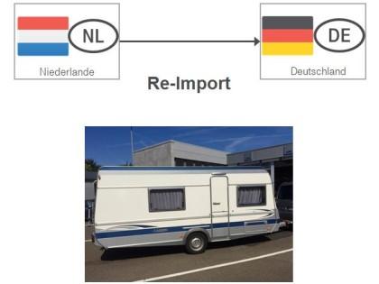 Re-Import eines Wohnwagens aus den Niederlanden